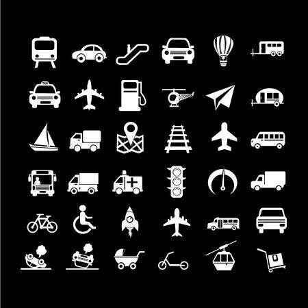 private jet: Transport icon illustration design Illustration