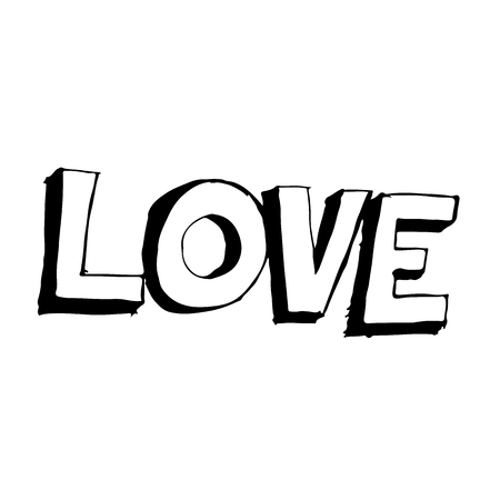 woodcutting: doodle love icon hand draw illustration design