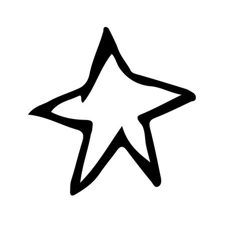 doodled: doodle star icon drawing illustration design Illustration