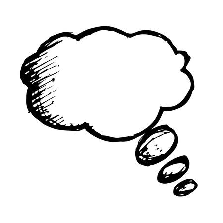 Doodle speech bubble icon hand draw illustration design Stock Illustratie
