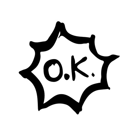 doodle ok icon drawing illustration design