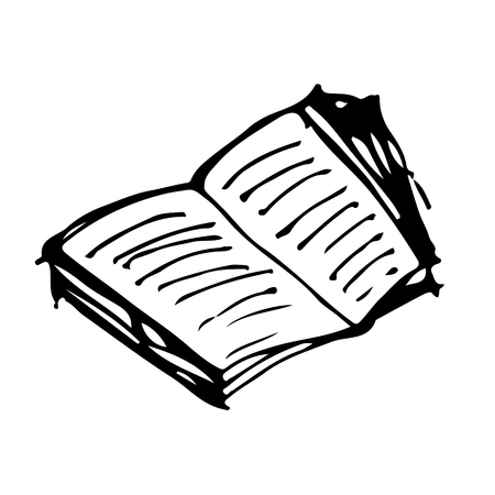 doodle book icon drawing illustration design