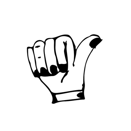 lined up: doodle hand icon drawing illustration design