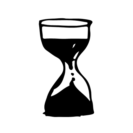 watch glass: hourglass drawing illustration design