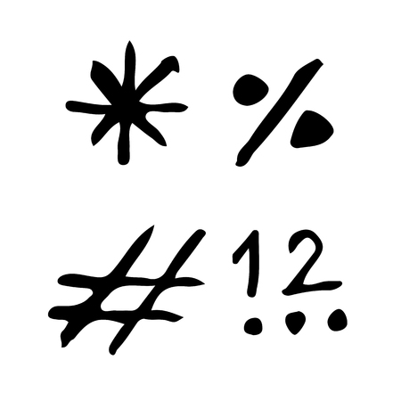 parentheses: doodle signs icon drawing illustration design