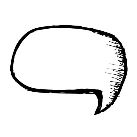 Doodle speech bubble icon hand draw illustration design Illustration