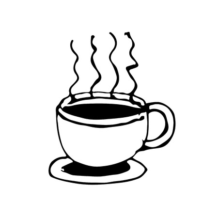 coffe cup: doodle coffe cup icon drawing illustration design