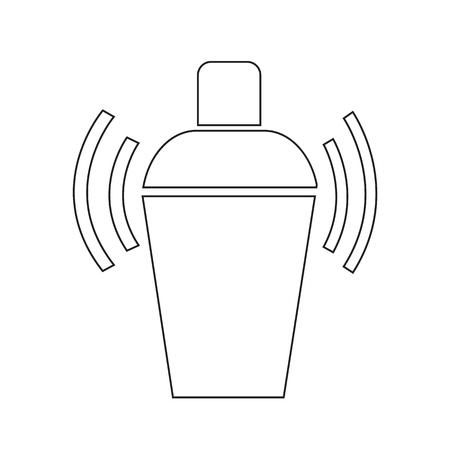 SHAKER: Cocktail Shaker icon illustration design
