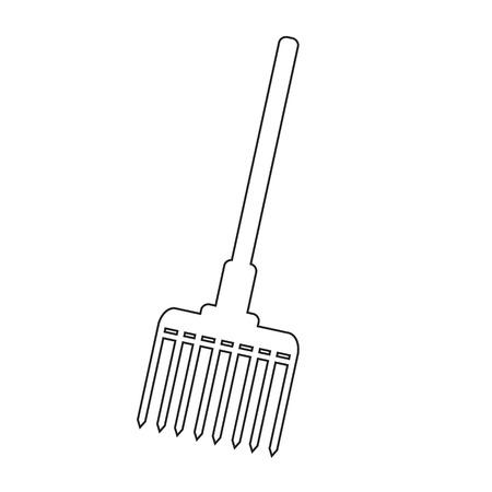 pitchfork: Pitchfork icon illustration design