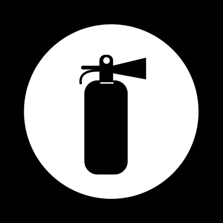 inflammable: Fire Extinguisher Icon Illustration design Illustration