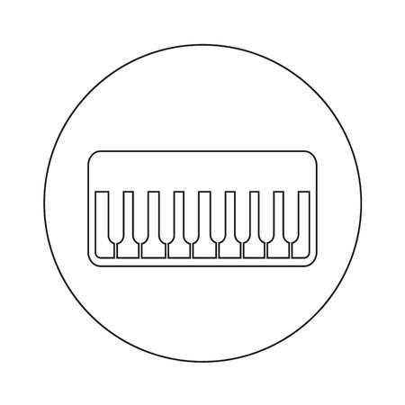 ebony: Piano Icon illustration design