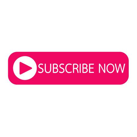 subscribing: Subscribe now button icon illustration design
