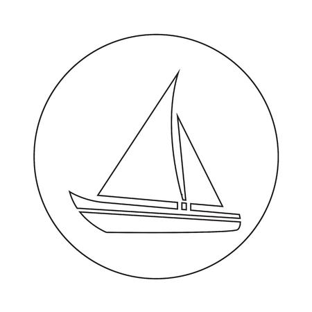 Barco de vela icónico diseño