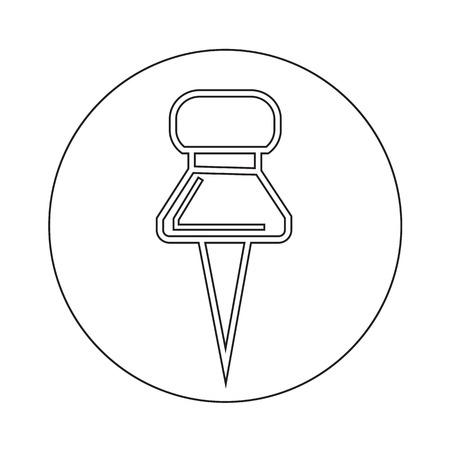 push: push pin icon illustration design