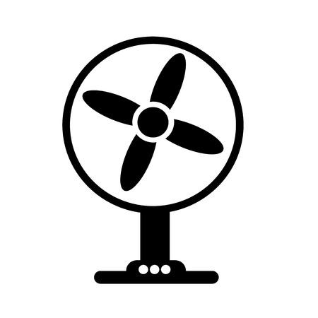turn table: Table fan icon illustration design