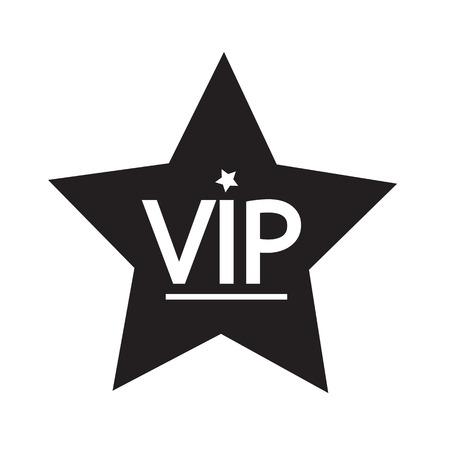 private club: VIP icon illustration design