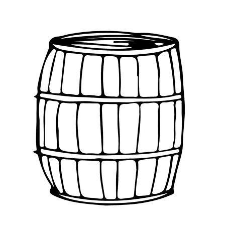 quick drawing: barrel hand draw doodle illustration design