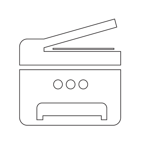 multifunction printer: Copy Machine Multifunction printer icon illustration design