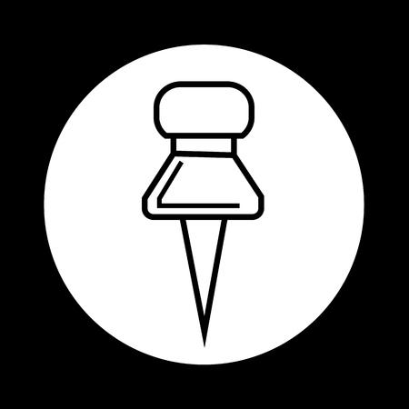push pin icon: push pin icon illustration design