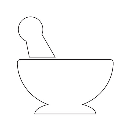 mortar and pestle: Mortar pestle icon illustration design