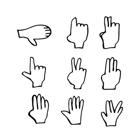 slang: doodle hand icon illustration design