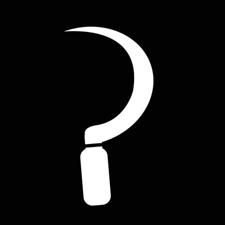 sickle: Sickle icon illustration design