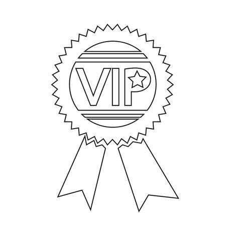 privilege: VIP icon illustration design
