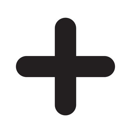 add plusteken illustratie pictogram ontwerp
