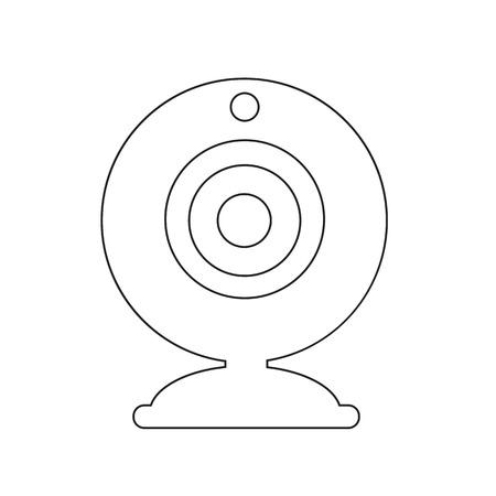 webcam: Webcam icon illustration design