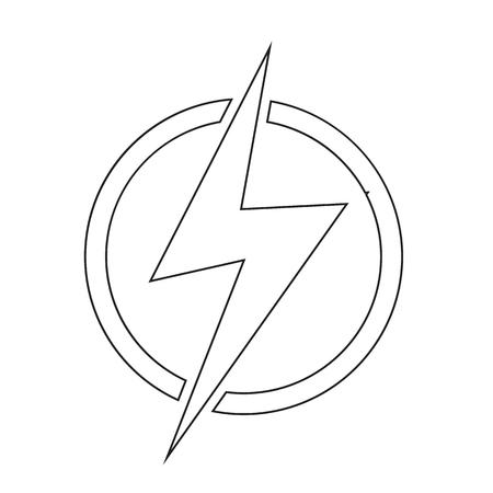 bolt: Lightning bolt icon illustration idesign