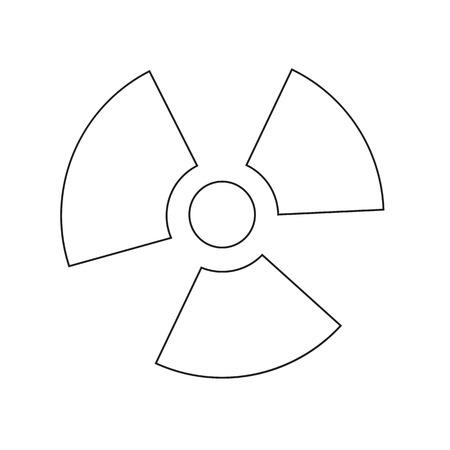 radiacion: Ionizing radiation icon illustration idesign
