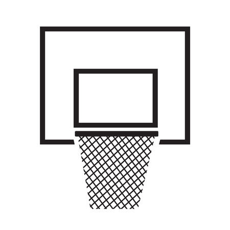backboard: Basketball backboard net icon illustration design