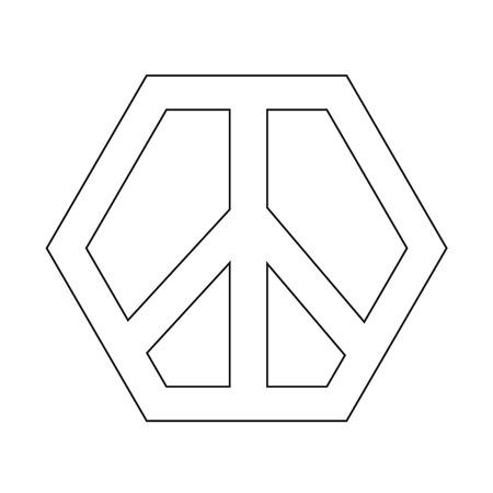 pacifist: Peace sign icon illustration design