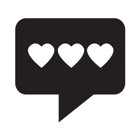heart icon: heart icon illustration design Illustration