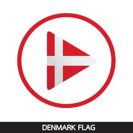danish flag: Denmark flag design illustration
