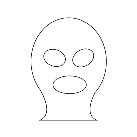 criminal: Criminal Mask icon illustration design
