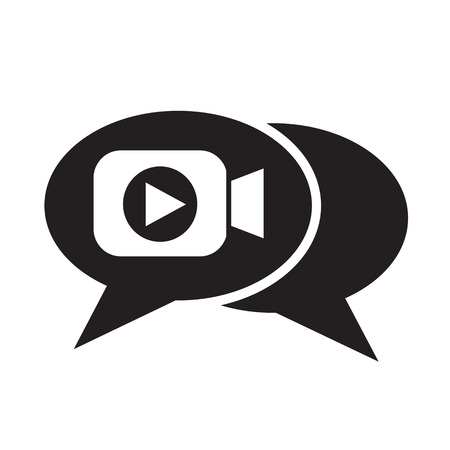 video call: video chat icon illustration design