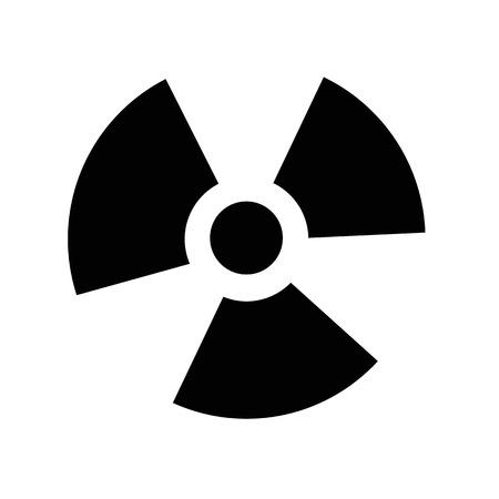 ionizing radiation: Ionizing radiation icon illustration idesign