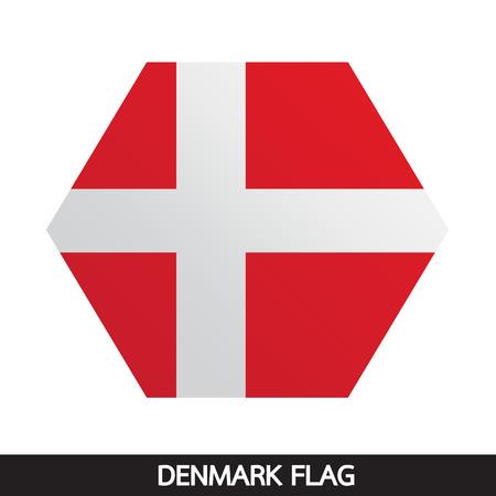 denmark flag: Denmark flag illustration design