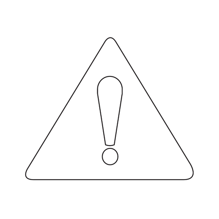 exclamation icon: Attention sign exclamation icon illustration idesign