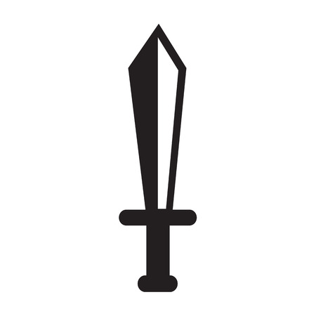 longsword: Sword icon illustration design Illustration