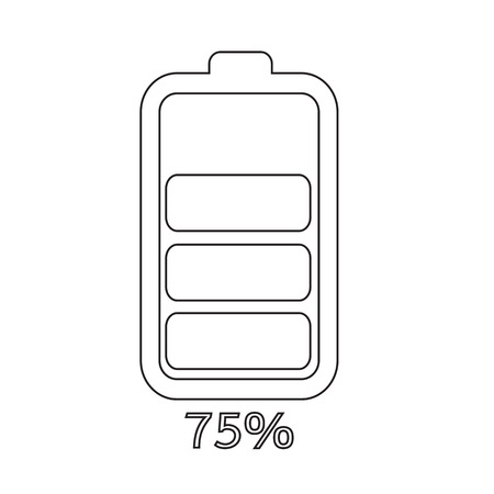 charged: battery icon illustration idesign