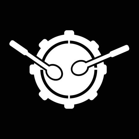 drumming: Drum icon illustration idesign