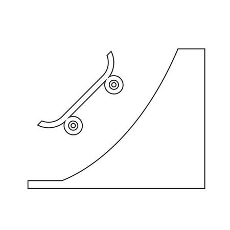 skateboard park: Skate Park icon illustration design