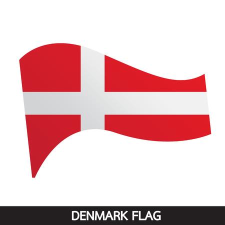 denmark flag: Denmark flag design illustration