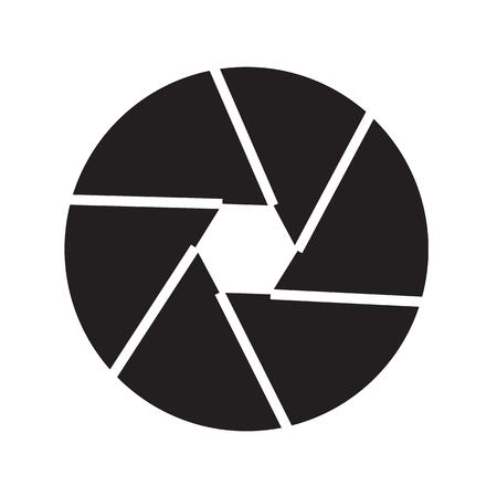camera shutter icon illustration design