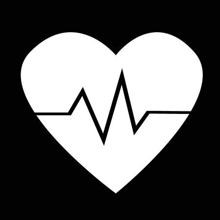 cardio: heart cardio pulse icon illustration design