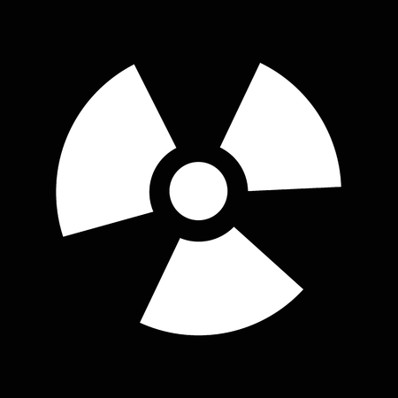 ionizing: Ionizing radiation icon illustration idesign