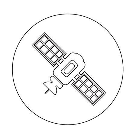 transponder: satellite icon illustration design