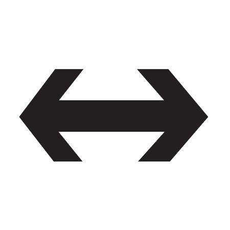 2 way: 2 way arrow icon illustration design Illustration